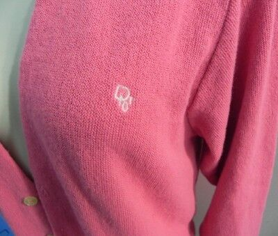 Vintage Christian Dior Pink Cardigan button up sweater