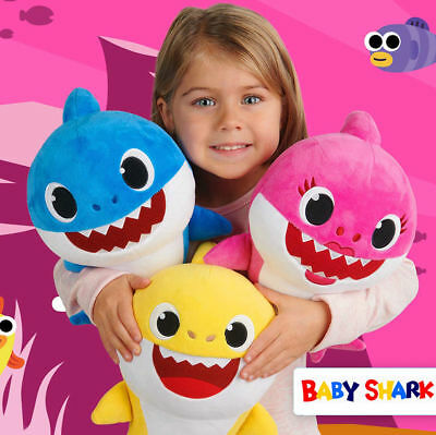 Baby Shark Plush Singing English Song Cartoon Music Doll Musical Toy Gift 33cm