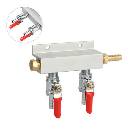 SE 2/3/4 Way Best Price Gas Manifold Distribution CO2 Splitter with Check Valves