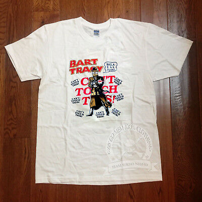 VTG t shirt 90s Bootleg Bart Simpson Dick Tracy Single Stitch Reprint S-XXL