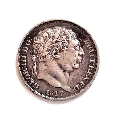 George 111 silver milled Sixpence 1817  good high grade
