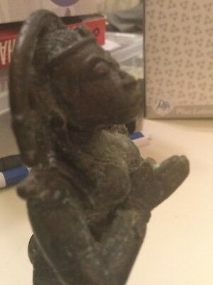 Hanuman The Monkey God Worshipped In Hindu Religion.the Figure Is Made Of Copper