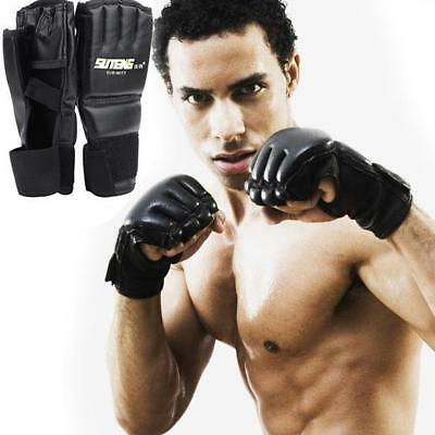 MMA UFC Sparring Grappling Boxing Fight Punch Ultimate Mitts Leather Glove TXGT