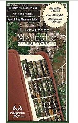 Majestic Bible Tabs Indexing Camo Foil-Edged Old & New Testament TAX FREE