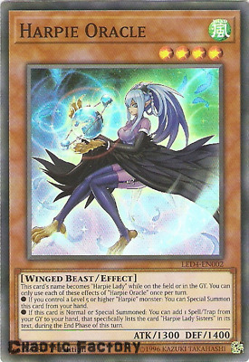 Yugioh LED4-EN002 Harpie Oracle Super Rare 1st Edition NM