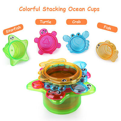 e180e0b18aefbd 11 Pieces Shinehalo Jouets de bain for Baby Played In Bathtub Pool Bubble  Shower
