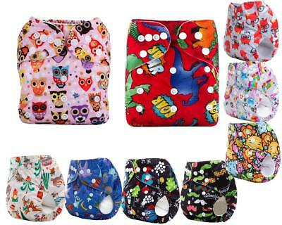 Kids Infant Reusable Washable Baby Cloth Diaper Nappy Cover Adjustable+ 1insert