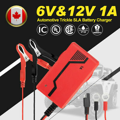 6V&12V Automotive Trickle Smart Battery Charger Maintainer Car Truck Motorcycle