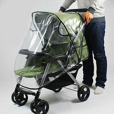 New Stroller Rain Cover Waterproof Pram Transparent Baby Pushchair Dust Shield