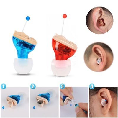 Aid Hearing Aid Left Hearing Amplifier In-Ear Mini Adjustable Invisible