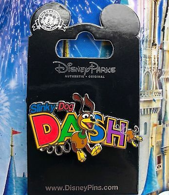 Disney TOY STORY LAND Slinky Dog  Dash Roller Coaster Pin New on Card