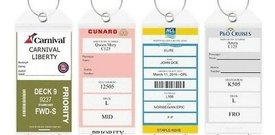 4 Cruise Ship Luggage Tag Holders HIGH QUALITY Zip Thick PVC Clear Aussie Stock