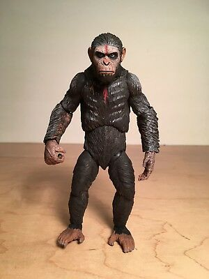 "Planet of the Apes Action figure ""CAESAR"" 6"" tall 2 sets of hands + spear no box"