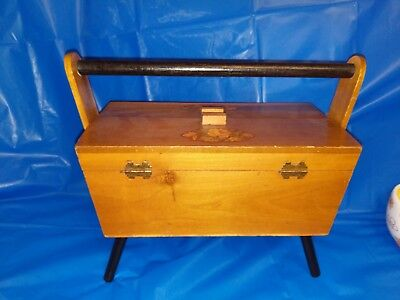 Vintage Hand Made Sewing Box