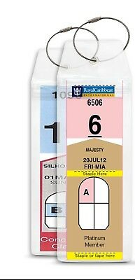 2 Cruise Ship Luggage Tag Holders HIGH QUALITY Zip Thick PVC Clear Aussie Stock