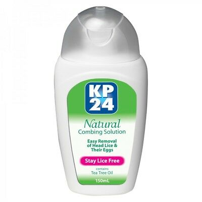 Kp24 Natural Combing Solution 150Ml Easy Removal Of Head Lice & Their Eggs