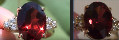 Malaya Garnet 6.32ct,with Diamonds,18ct Solid Gold Ring,Resizable 6-9,Now 7.5,