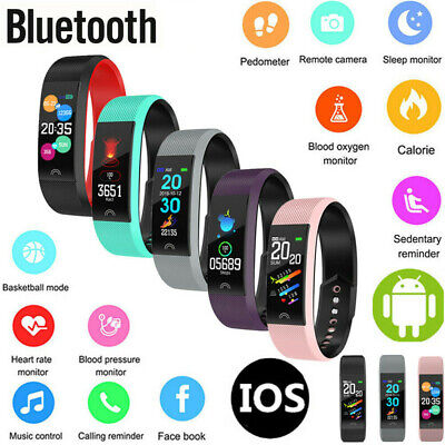 Smart Watch Activity Tracker Heart Rate Monitor Women Kids Fit ios Android F6