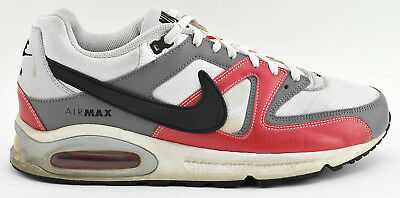 0936853256 Mens Nike Air Max Command Running Shoes Size 12 White Red Gray 397689 101