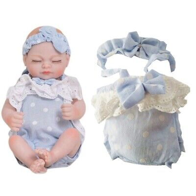 """Baoblaze Clothes for 10-11"""" Reborn Baby Girl Doll Rompers Jumpsuit Headband"""