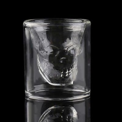 Crystal Skull Head Vodka Shot Whiskey Wine Drinking Glass Decanter Cup 75ml Mini