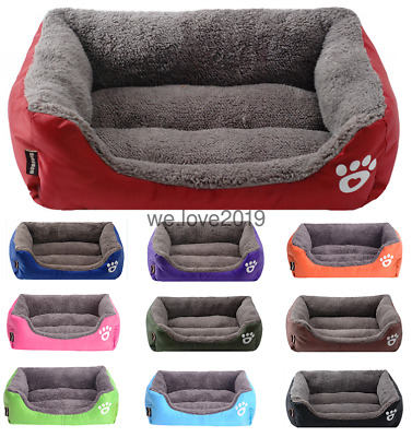 Pet Dog Cat BED Puppy Cushion House Soft Warm Kennel Mat Blanket Washable Beds:)