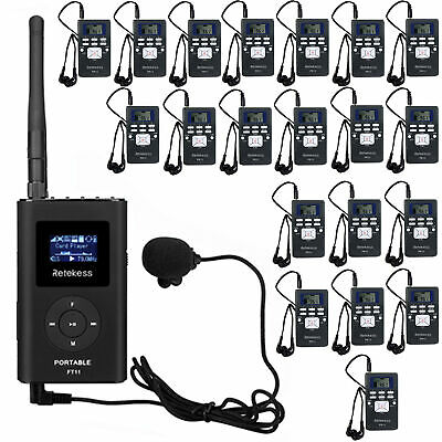 Wireless Tour Guide System for Guiding1 FM Transmitter+20*Radio Receivers US