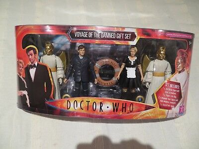 Dr Who Voyage of the Damned David Tennant figure set boxed