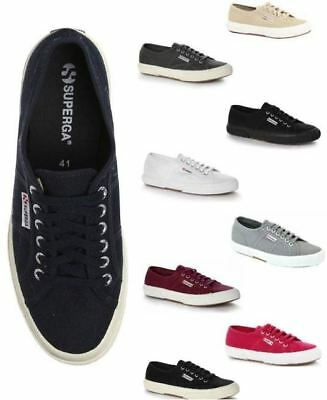 Superga 2750 Cotu Classic Canvas Plimsoll Trainers - Various Colours & Sizes