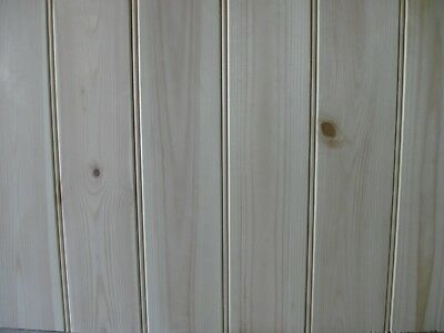 pine tongue and groove beaded cladding match boarding backboard 90cm lengths x10