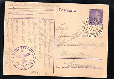 Ukraine,PK 2,gebraucht,Bedarf,6.7.43,Kiew,German occupation Ukraine