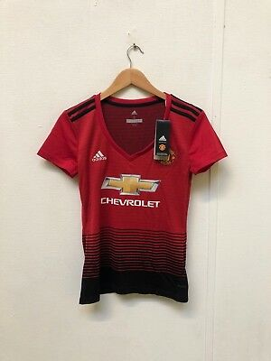 Manchester United adidas 2018/19 Women's Home Shirt - UK 8-10 - No Name 4 - New