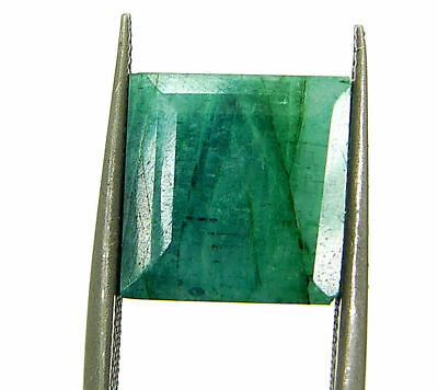 5.60 Ct Certified Natural Green Emerald Loose Gemstone Emerald Cut Stone -109390