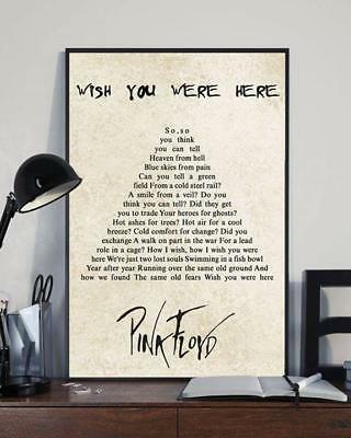Pink Floyd Wish You Were Here Tree Lyrics Poster 11-36 Inches