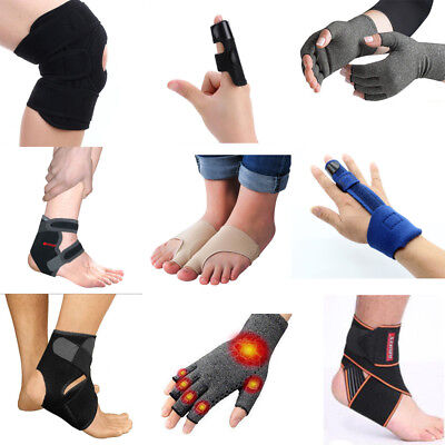 Anti Arthritis Copper Fingerless Gloves Toe Bunion Protector Foot Ankle Support