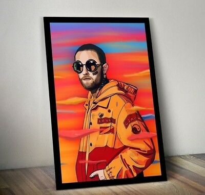Mac Miller Poster Mac Miller 1992-2018 Art Poster 11-36 Inches Without Frame