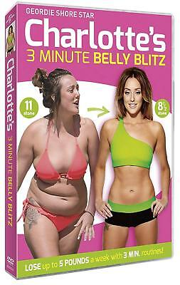 Charlotte Crosby's 3 Minute Belly Blitz DVD Fat Weight Loss Workout NEW UK POST