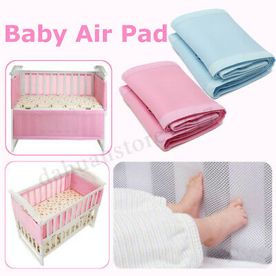 AU Baby Air Pad Breathing Space Infant Mesh Cot Mat Bumper Protection 130x70cm