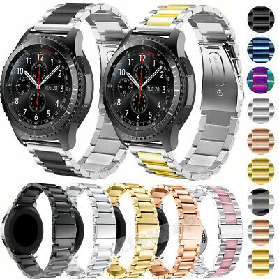 For Samsung Galaxy Watch 42mm 46mm Quik Release Stainless Steel Wrist Band Strap