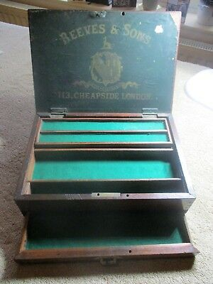 Victorian Reeves and Son  paint box - marked L. N. E. R.  - restored into useful
