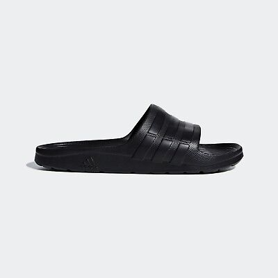 Adidas Duramo Sliders Flip-Flops Slippers Pool Slip on Sandals Shoes Black