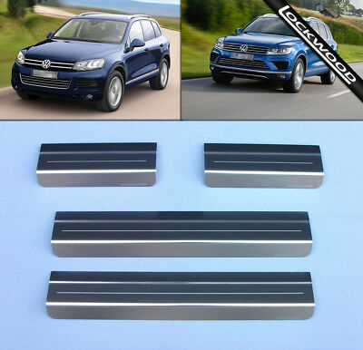 VW Touareg Mk2 (Released 2010) Stainless Steel Sill Protectors / Kick Plates