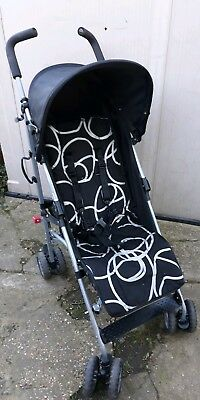 Obaby Atlas Circle Buggy Stroller black Umbrella Lightweight Holiday Pram