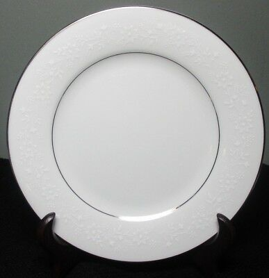 "NORITAKE Fine China BUCKINGHAM 6 1/2"" BREAD & BUTTER PLATE #6438 ~ Platinum Trim"