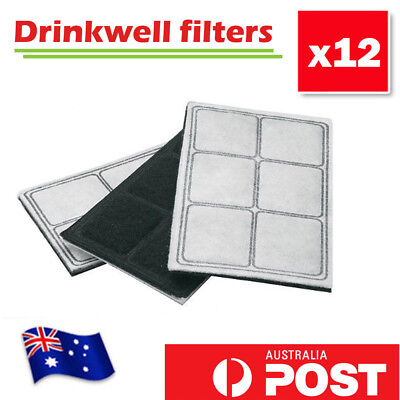Replacement Charcoal Filters 12 Packs for PetSafe Drinkwell Pet Water Fountain