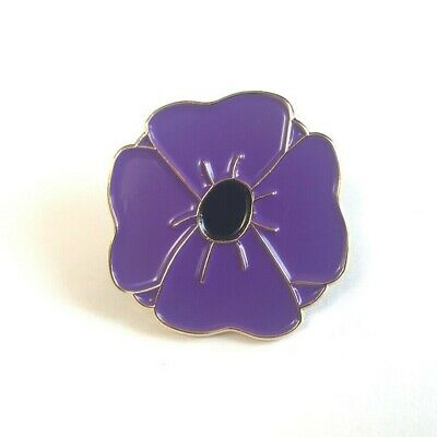 Purple Poppy Enamel Pin Badge Lapel | The Animals Of War | New 2019 | Charity