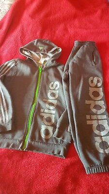 Adidas Tracksuit Top And Bottoms Age 11-12