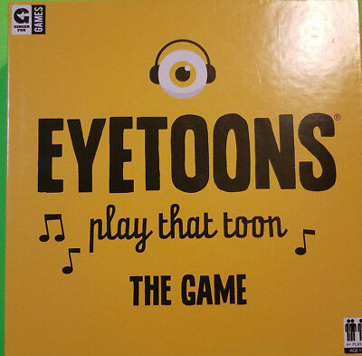 Eyetoons Play that Toon The Game Boardgame Ginger Fox Games 2017