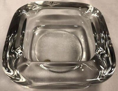 Vintage Vannes Heavy Glass Ashtray Made In France