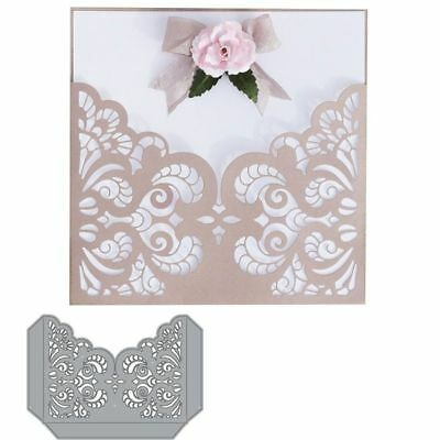 Metal Stencil Embossing Lace Pocket Cutting Dies Scrapbooking Album Paper Crafts